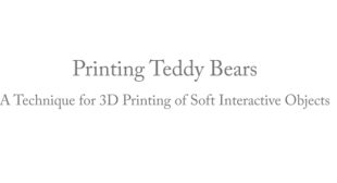 3D Printed Teddy Bear – Disney 3D Printing Soft Toys